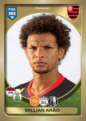 Willian Arão figurinha Fifa 365 Flamengo (Foto: Divulgação)