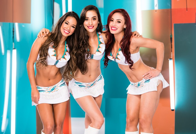 As cheerleaders brasileiras do Dolphins: Vera, Erica e Ana (Foto: Miami Dolphins)