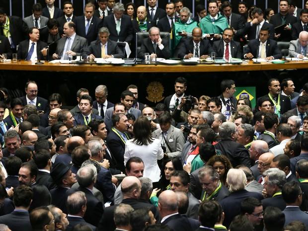 Câmara vota impeachment 02 (Foto: Marcelo Camargo/Agência Brasil)