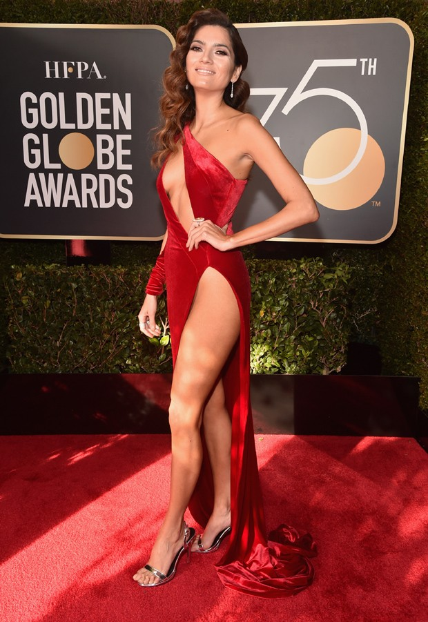 BEVERLY HILLS, CA - JANUARY 07: Actor Blanca Blanco attends The 75th Annual Golden Globe Awards at The Beverly Hilton Hotel on January 7, 2018 in Beverly Hills, California.  (Photo by Alberto E. Rodriguez/Getty Images) (Foto: Getty Images)
