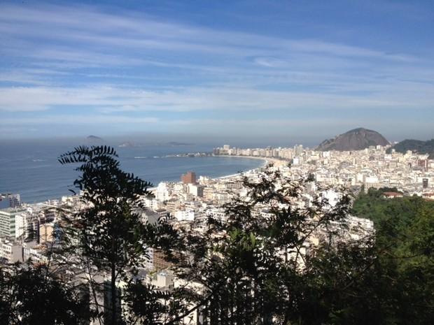 Interessados em percorrer a trilha vão poder observar os principais pontos naturais e turísticos do Rio. (Foto: Mariucha Machado/G1)
