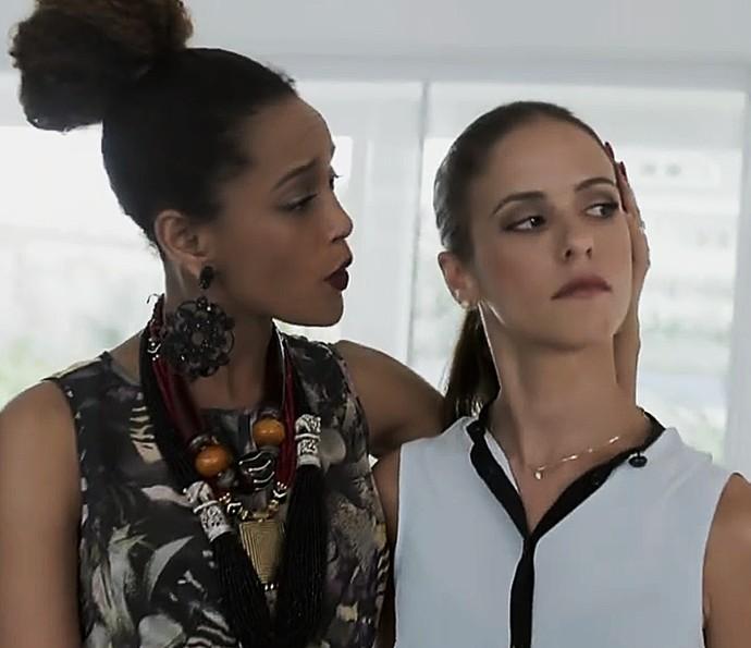 Michele e Andrea não se bicam (Foto: TV Globo)