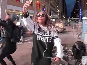 Ludmilla mostra viagem a NY (Foto: Gshow)