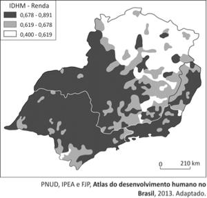 Mapa (Foto: Reprodução/Fuvest)