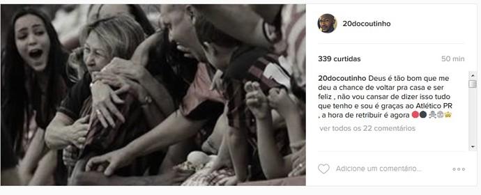Atlético-PR Douglas Coutinho (Foto: Reprodução/Instagram)