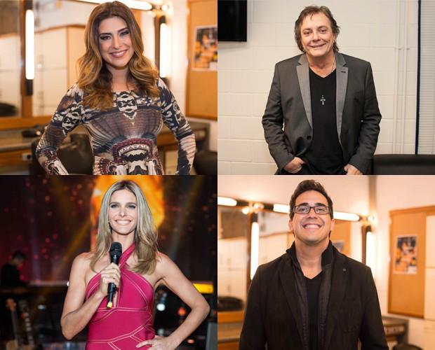 Jurados e apresentadores convidam para a grande final do SuperStar (Foto: Dafne Bastos/TV Globo)