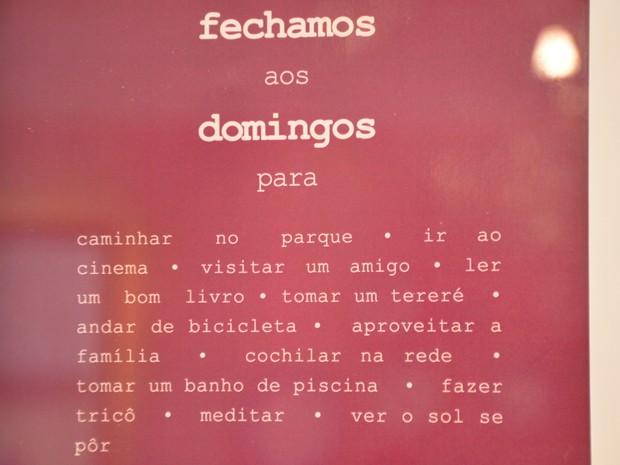 Mensagem domingo (Foto: Gabriela Pavão/ G1 MS)