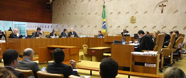 STF durante análise dos embargos de declaração no mensalão, nesta quarta (Foto: Gervásio Baptista/SCO/STF)