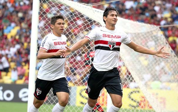 Ganso, destaque contra o Flamengo, volta ao Maracanã para enfrentar o Fluminense (Foto: André Durão / reprodução Globoesporte.com)