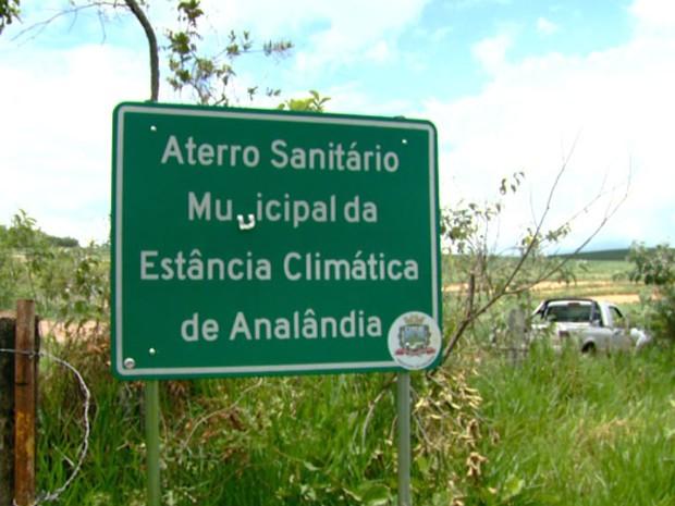 Prefeitura confirma que o aterro sanitário não foi utilizado  (Foto: Marlon Tavoni / EPTV)