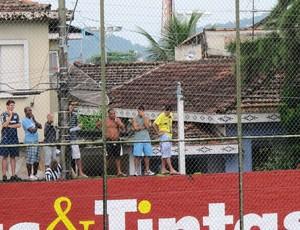 """""""Torcida"""" São Vicente x América-SP (Foto: Lincoln Chaves)"""