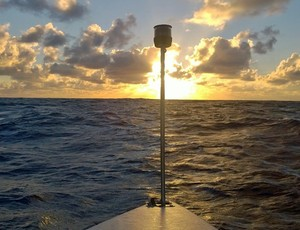 Caê afirmou que a natureza deu vários presentes. Entre eles, o belo pôr do sol (Foto: Reprodução)