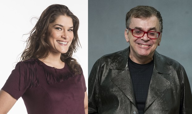Priscila Fantin e Walcyr Carrasco: amigos novamente (Foto: Globo)