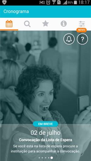 Aplicativo permite que os candidatos consultem as vagas do Sisu através de tablet e celular (Foto: Reprodução)