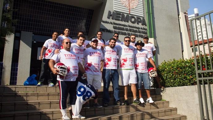 Titans se reuniu para a doação voluntária de sangue  (Foto: Divulgação)