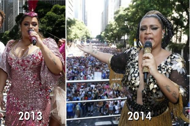 Preta Gil e os looks usados em 2013 e 2014 (Foto: Arquivo EGO)