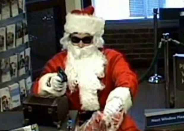 Em 2009, um homem vestido de Papai Noel assaltou uma agência do banco SunTrust em Nashville, no estado americano do Tennessee (Foto: AP)