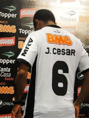 Junior cesar - Apresentação Atlético-MG (Foto: Fernando Martins / Globoesporte.com)