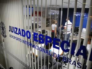 Juizado especial no aeroporto de Brasília (Foto: Gilmar Félix / Conselho Nacional de Justiça)