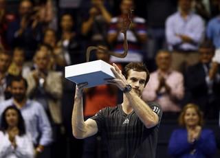 Andy Murray troféu Valencia, tênis (Foto: EFE)