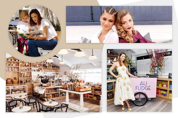 O restaurante Au Fudge, de Jessica Biel, recebe celebridades como Alessandra Ambrosio, Zendaya e Jamie King (Foto: Reprodução)