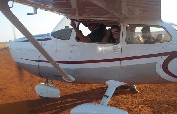 Avião monomotor que fazia voo panorâmico cai e mata quatro pessoas em Acreúna, Goiás (Foto: Renato Alves Feitosa/Arquivo pessoal)