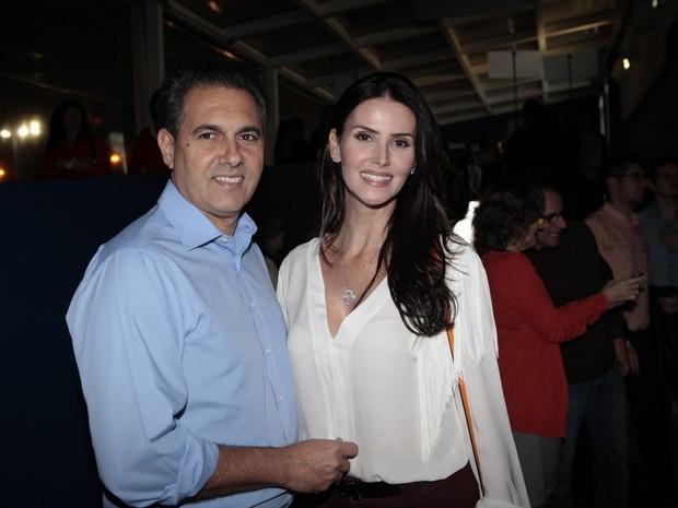 Lisandra Souto e Gustavo Fernandes (Foto: Isac Luz / EGO)