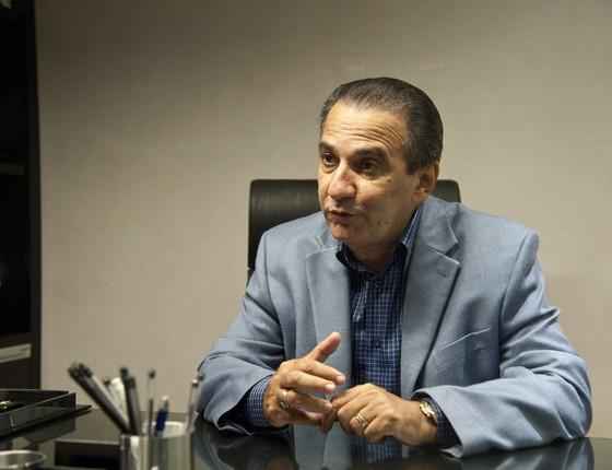 Silas Malafaia, pastor da Assembleia de Deus-Vitória em Cristo. Ele dá apoio ao candidato Luiz Fernando Pezão (PMDB) (Foto: Adriana Lorete / Agencia O Globo)
