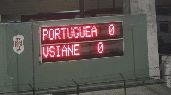 Placar Portuguesa Santista x Atibaia (Foto: João Paulo de Castro)