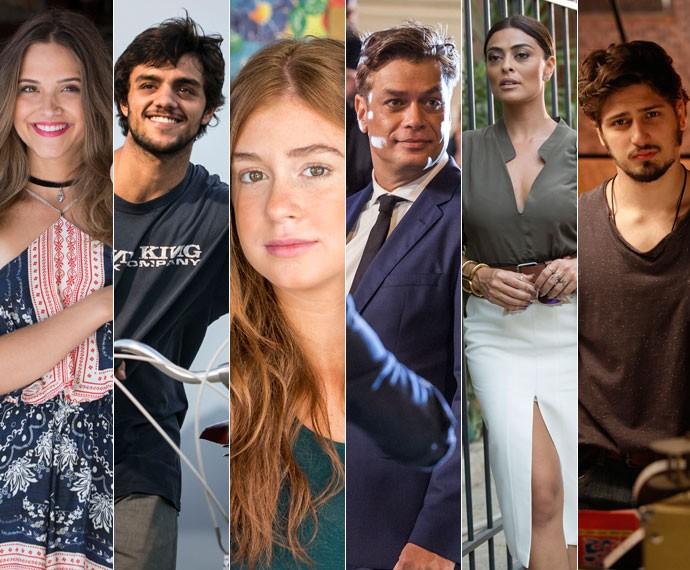 Reveja as apresentações dos personagens de 'Totalmente Demais' no Gshow (Foto: Raphael Dias, Arhutr Meninea, Felipe Monteiro e Inácio Moraes/Gshow)