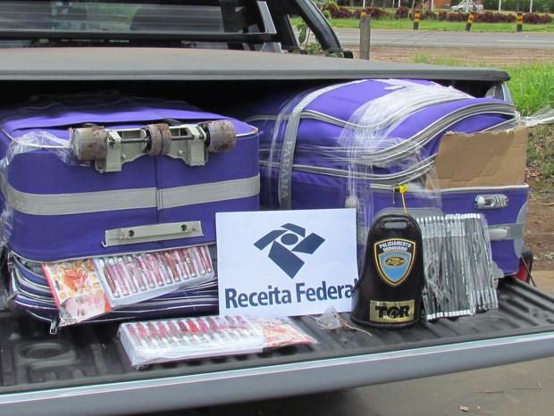 Polícia Federal apreende 100 quilos de cosméticos contrabandeados (Foto: Divulgação/ Polícia Federal )