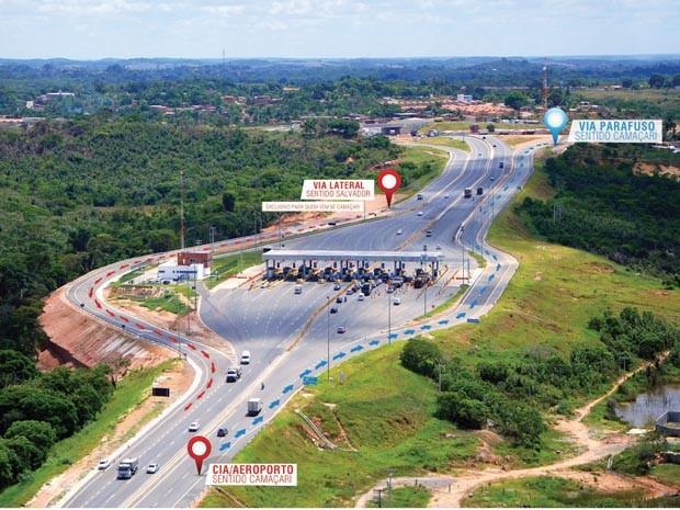 Mudança no trânsito (Foto: Divulgação/ Bahia Norte)