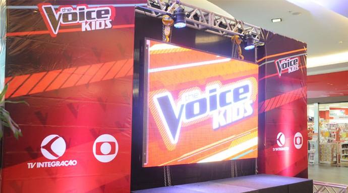 Estrutura foi montada para a final do The Voice Kids (Foto: Luciana Santos)