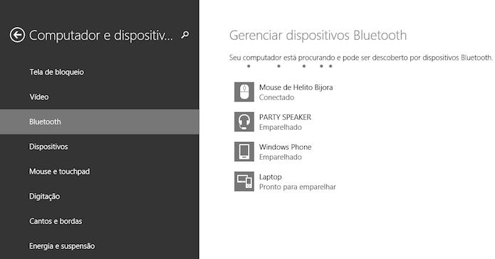 Adicionando dispositivos bluetooth (Foto: Reprodução/Helito Bijora)