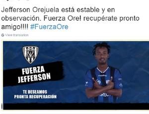 Orejuela twitter Independiente del Valle (Foto: Reprodução/Twitter)