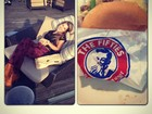Após perder 10kg, Adriana devora hambúrguer com maionese