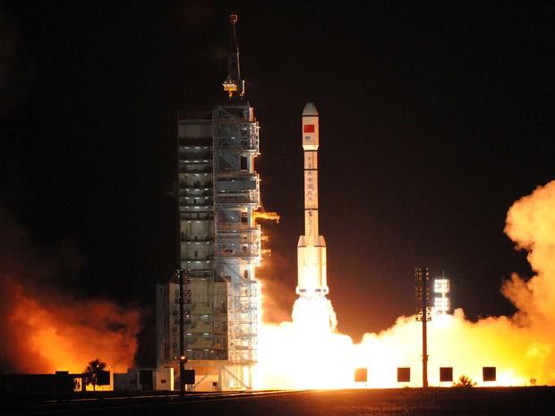 China lançou seu segundo laboratório espacial experimental nesta quinta-feira (Foto: Reuters/Stringer)