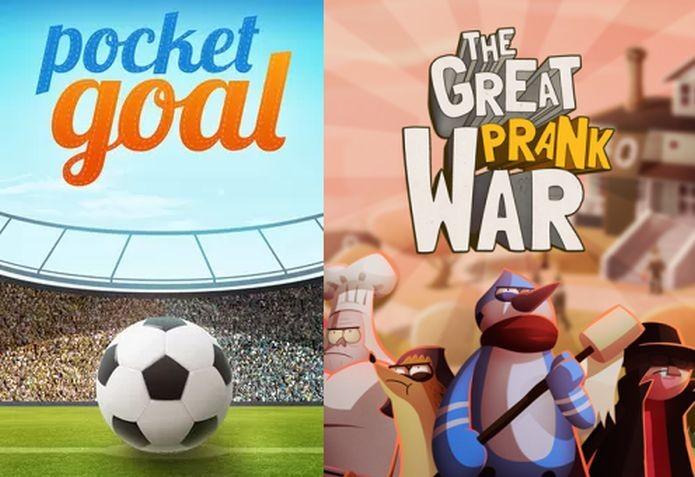 Aquiris fez Pocket Goal dedicado à Copa do Mundo e The Great Prank War com parceria do Cartoon Network (Foto: Divulgação)
