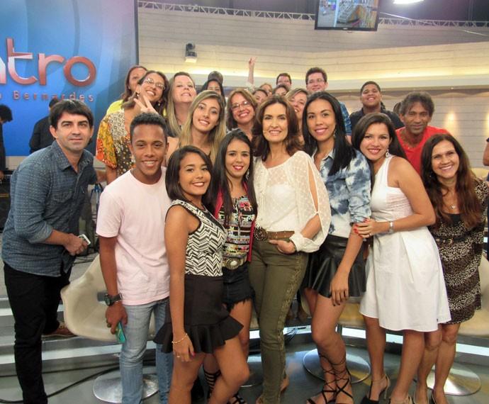 Mais plateia com a Fátima (Foto: Carolina Morgado/Gshow)