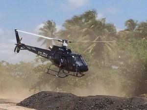Helicoptero vai atuar no Agreste e Sertão alagoano (Foto: Assessoria/Sedres)