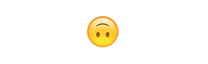 Divertido, o emoji de cabeça para baixo éusado nos momentos de descontração (Foto: Reprodução/emojipedia)