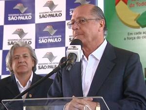 Governador Gealdo Alckmin em visita a Mogi Guaçu (Foto: Reprodução / EPTV)
