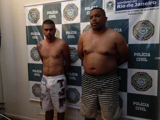 Daniel (esquerda) e Alessanderson (direita) foram apresentados na DH (Foto: Renata Soares/G1)