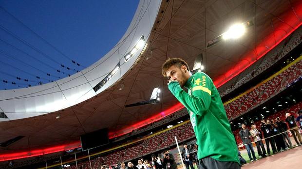 Neymar treino seleção na China (Foto: Mowa Press)