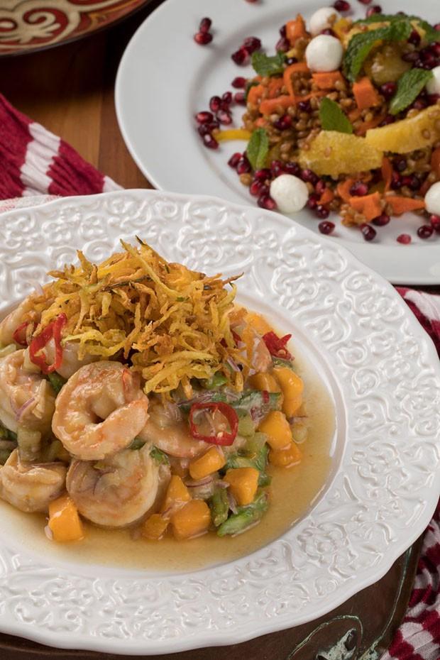 Salada Thai com camarão para receber os amigos (Foto: Rodrigo Azevedo)