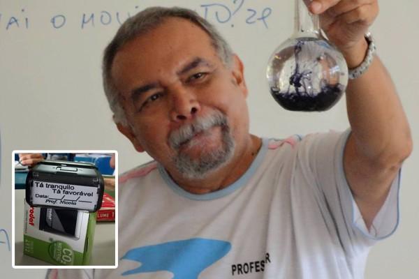 Professor Nicola Cano criou carimbo para incentivar alunos na Serra  (Foto: Arquivo Pessoal)