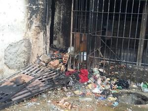 Celas do presído ficaram destruídas  (Foto: Divulgação/Sinpoljuspi)