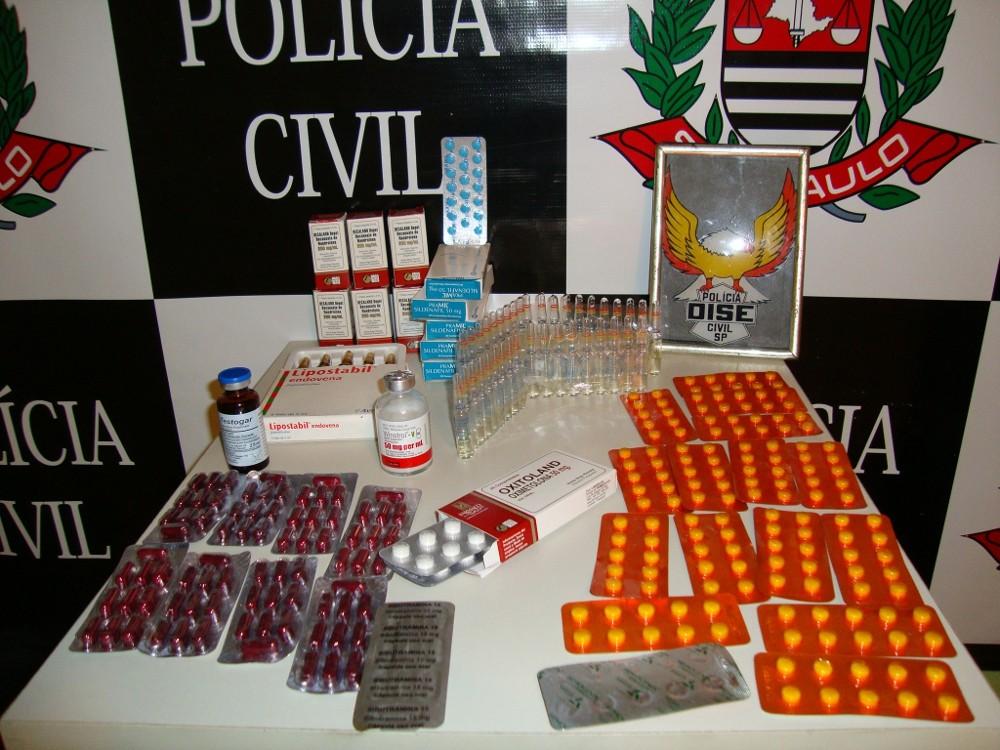 Anabolizantes (Foto: Divulgação/Dise)