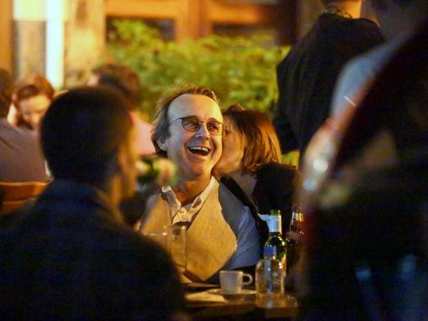 Paula Burlamaqui em bar no Leblon, Zona Sul do Rio (Foto: Ag. News)