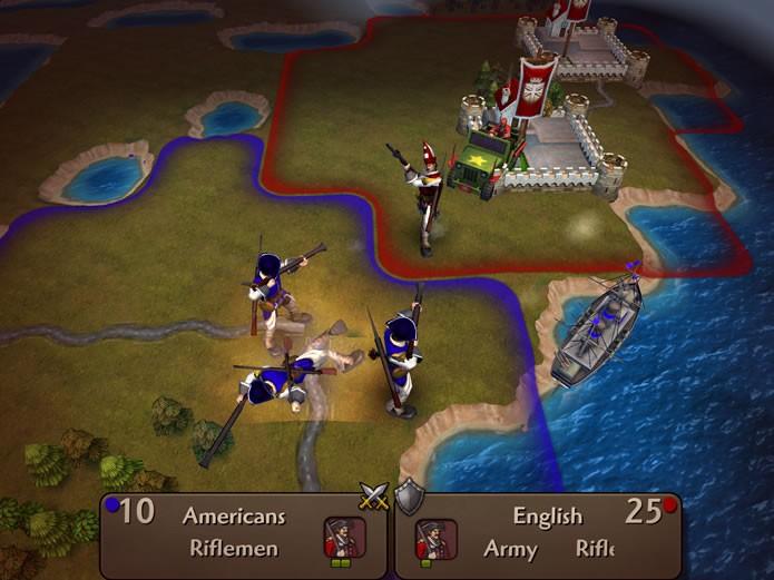 Todas as batalhas de Civilization Revolution 2 apresentam rápidas animações das unidades combatentes (Foto: Reprodução/Daniel Ribeiro)